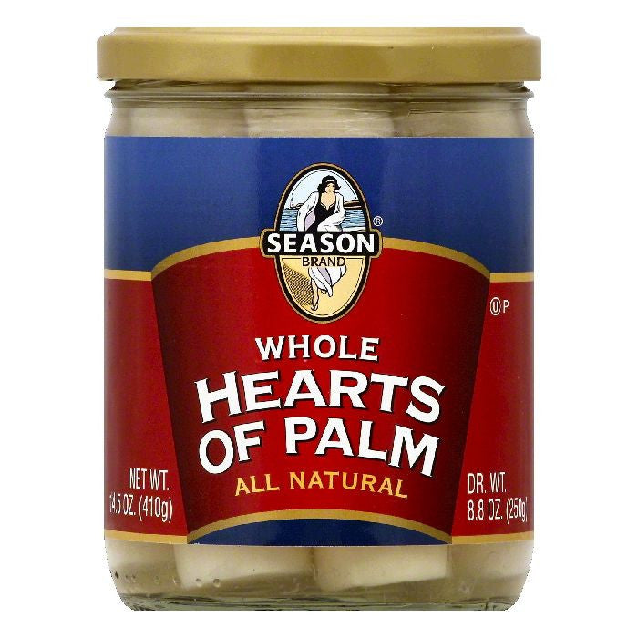 Season Whole Hearts of Palm, 14.5 OZ (Pack of 12)