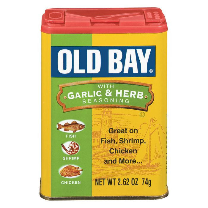 Old Bay W/Garlic & Herb Seasoning 2.62 Oz Shaker (Pack of 12)