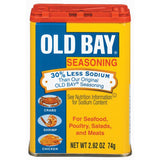 Old Bay For Seafood Poultry Salads & Meats Seasoning 30% Less Sodium 2.62 Oz Shaker (Pack of 12)