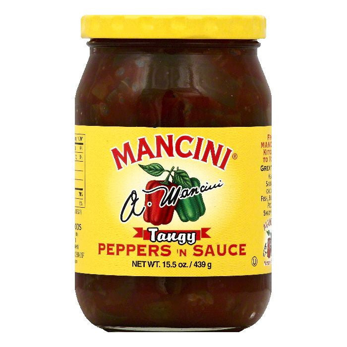 Mancini Tangy Peppers 'n Sauce, 15.5 OZ (Pack of 12)
