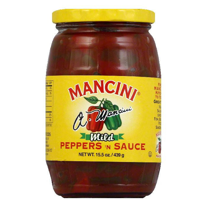 Mancini Mild Peppers and Sauce, 15.5 OZ (Pack of 12)