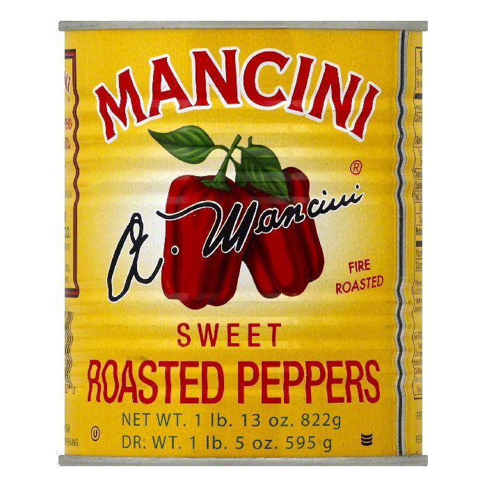 Mancini Sweet Roasted Peppers, 29 OZ (Pack of 12)