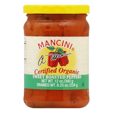 Mancini Organic Red Roasted Peppers, 12 OZ (Pack of 12)