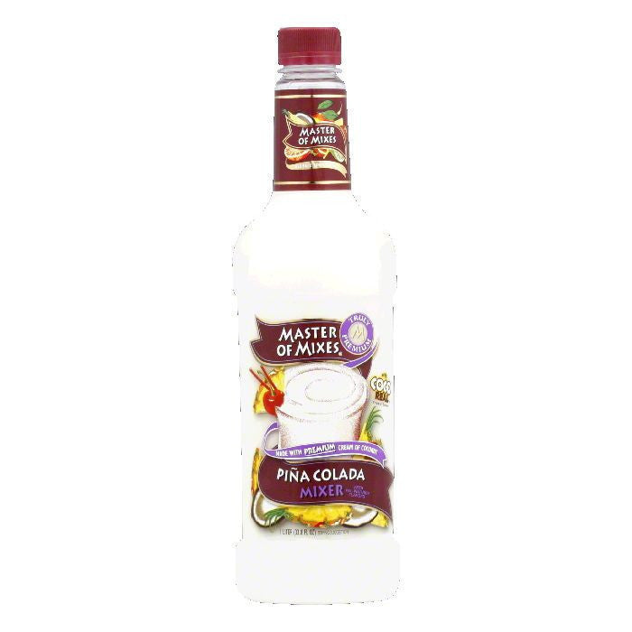 Master of Mixes Pina Colada Mix, 33.8 OZ (Pack of 6)