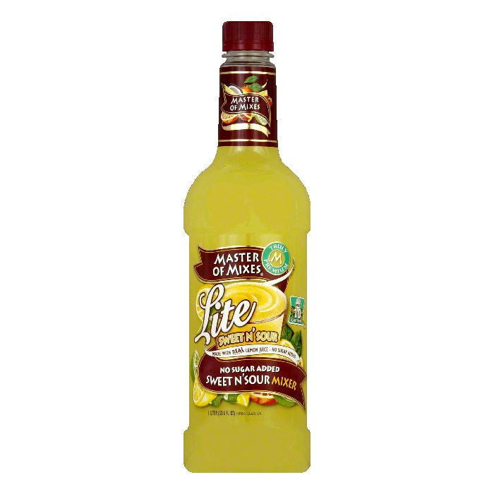 Master of Mixes Sweet & Sour Lite Margarita Mix, 33.8 OZ (Pack of 6)