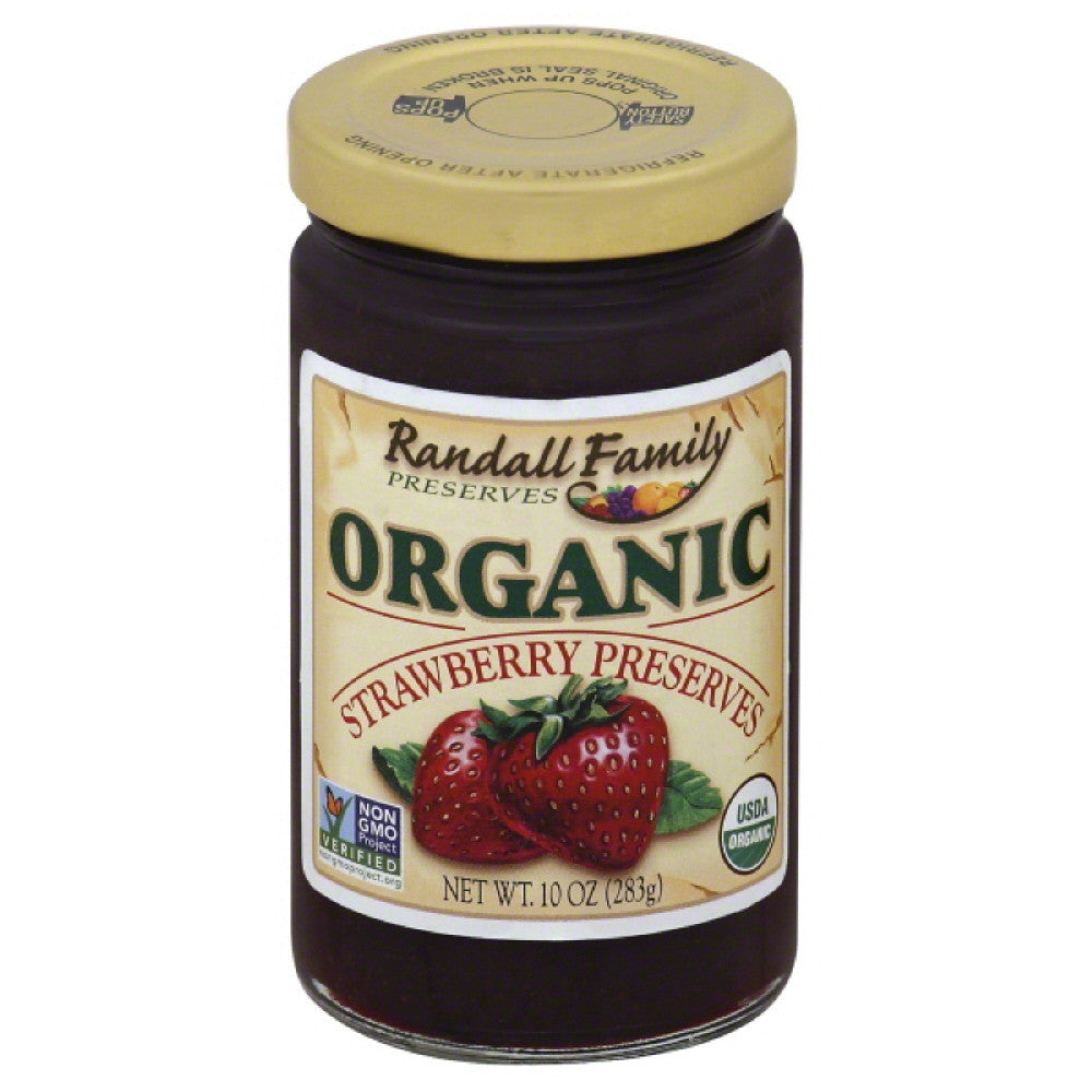 Randall Family Strawberry Preserves, 10 Oz (Pack of 6)