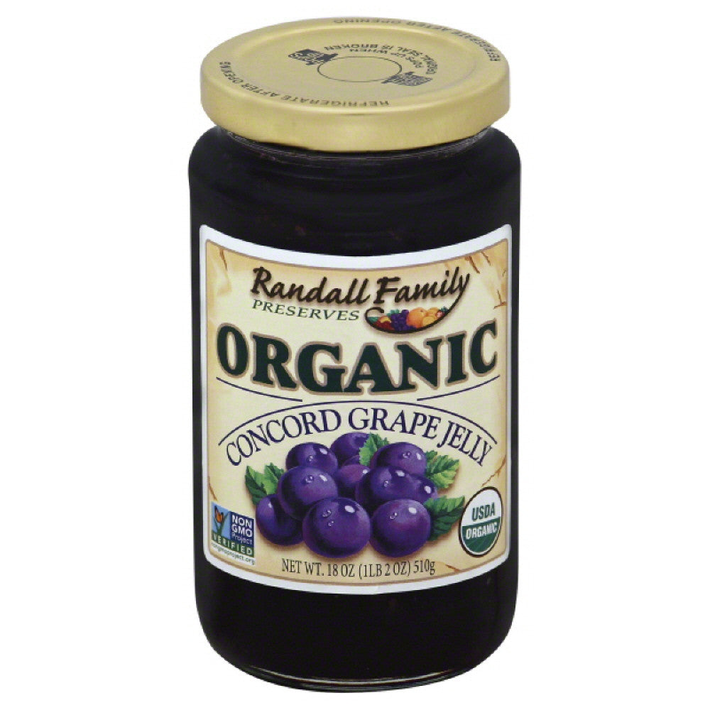 Randall Family Concord Grape Jelly, 18 Oz (Pack of 6)