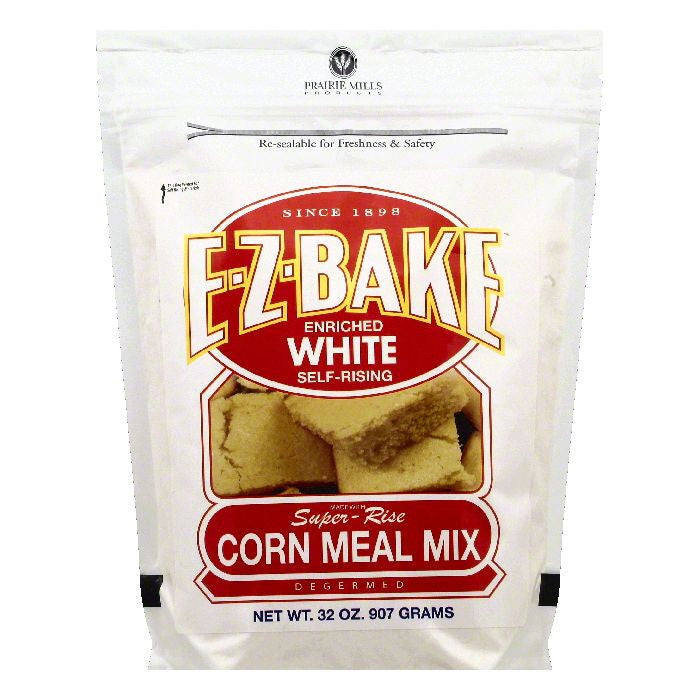 Prairie Mills Self-Rising White Enriched Corn Meal Mix, 32 OZ (Pack of 6)