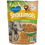 Barbara's Snackimals Oatmeal Cookies, 7.5 Oz Bag (Pack of 6)