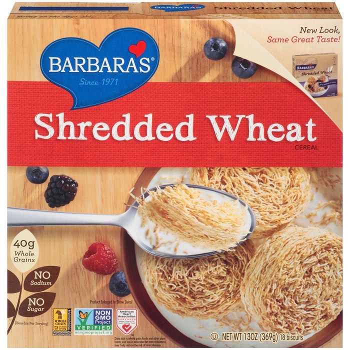 Shredded Wheat Cereal 13 oz  (Pack of 6)