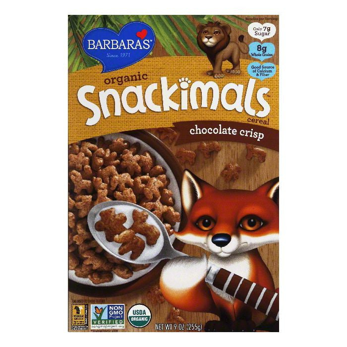 Barbaras Chocolate Crisp Organic Cereal, 9 Oz (Pack of 12)