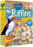 Barbara's Honey Rice Puffins, 10 OZ (Pack of 12)