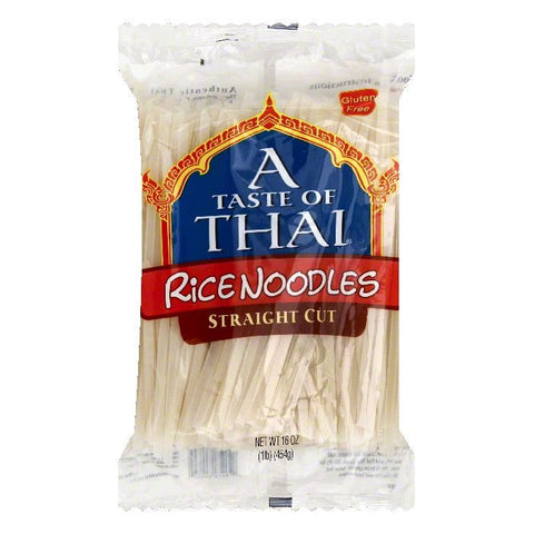A Taste of Thai Straight Cut Rice Noodles, 16 OZ (Pack of 6)