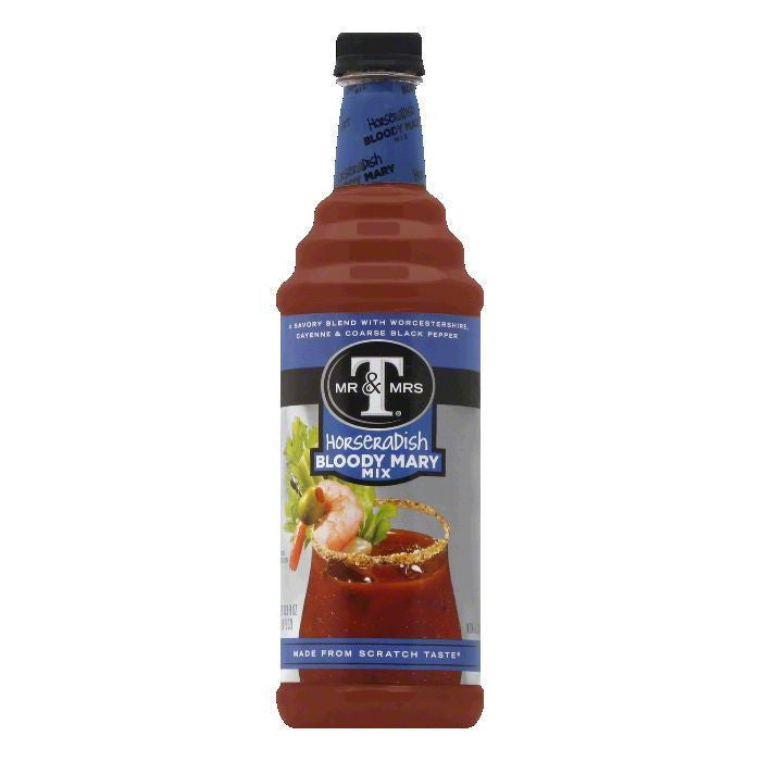 Mr. & Mrs. T Bloody Mary Mix Premium, 33.8 OZ (Pack of 6)