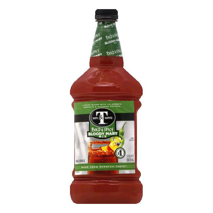 Mr & Mrs T Bold & Spicy Bloody Mary Mix, 1.75 LT (Pack of 6)