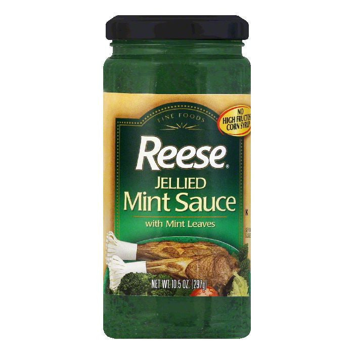 Reese Jellied Mint Sauce With Leaves, 10.5 OZ (Pack of 6)
