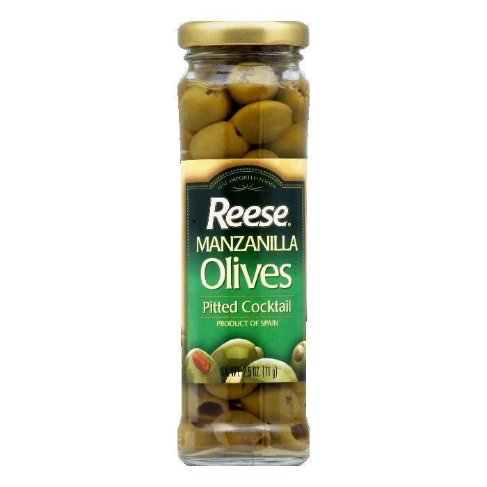 Reese Pitted Manz Thrown Olives, 2.5 OZ (Pack of 12)