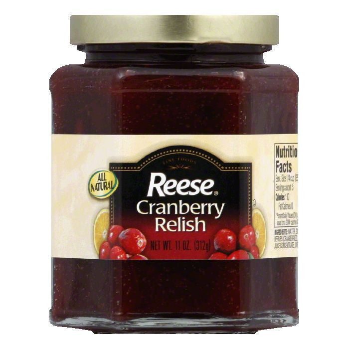 Reese Cranberrry Relish, 11 OZ (Pack of 6)