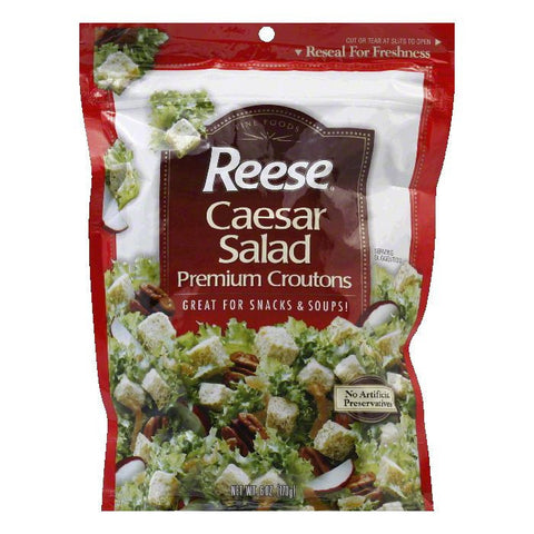 Reese Caesar Salad Croutons, 6 OZ (Pack of 12)