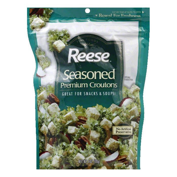 Reese Seasoned Croutons, 6 OZ (Pack of 12)