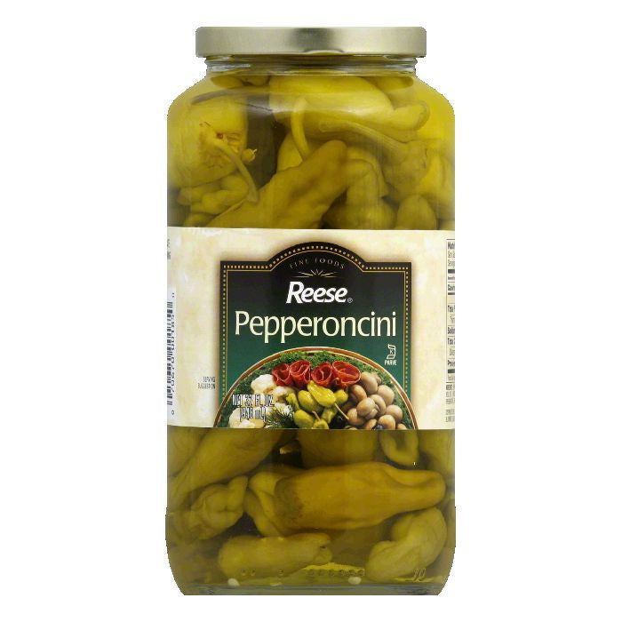 Reese Pepperoncini, 32 OZ (Pack of 12)
