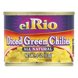 El Rio Green Chilis Chopped, 4 OZ (Pack of 24)