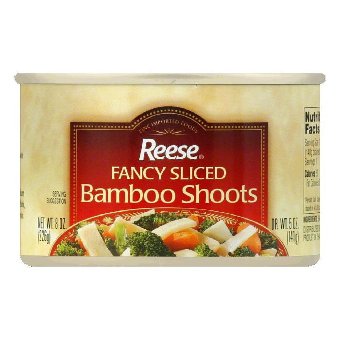 Reese Sliced Bamboo Shoots, 8 OZ (Pack of 12)