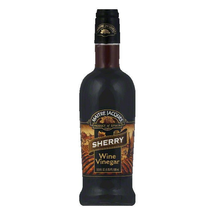 Maitre Jacques Vinegar Sherry, 16.9 OZ (Pack of 6)