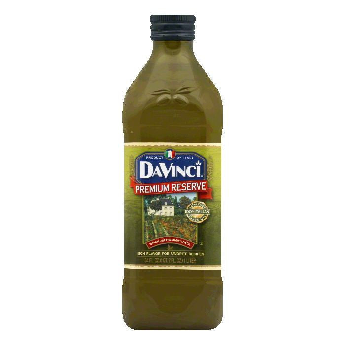 DaVinci Premium Reserve Olive Oil Xtra Virgin, 34 OZ (Pack of 6)