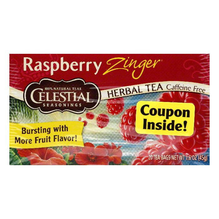 Celestial Seasonings Herb Tea Raspberry Zinger, 20 BG (Pack of 6)