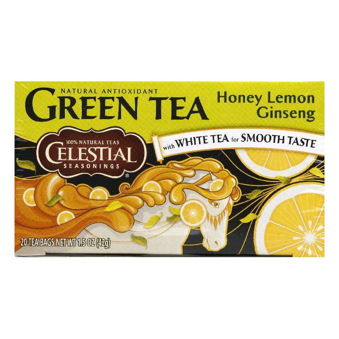 Celestial Seasonings Green Tea Honey Lemon Ginseng, 20 BG (Pack of 6)