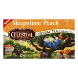 Celestial Seasonings Caffeine Free Sleepytime Peach Herbal Tea Bags, 20 BG (Pack of 6)