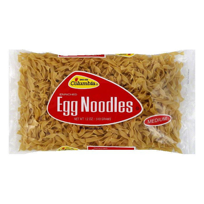 Columbia Egg Noodles Medium, 12 OZ (Pack of 12)