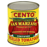 Cento Certified San Marzano Peeled Tomatoes with Basil Leaf, 28 Oz (Pack of 12)