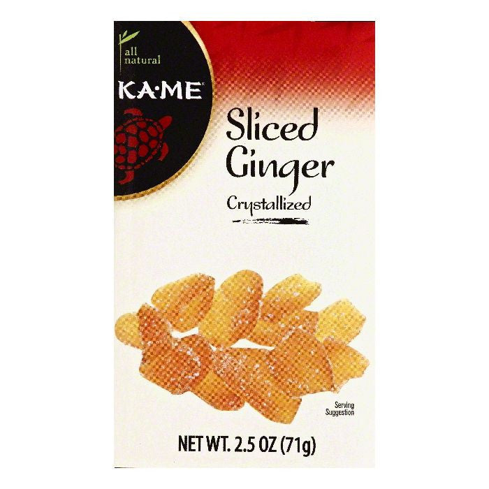 Ka Me Crystallized Sliced Ginger, 2.5 OZ (Pack of 12)