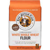 King Arthur Flour White Whole Wheat Unbleached Flour 5 lb. Bag (Pack of 8)