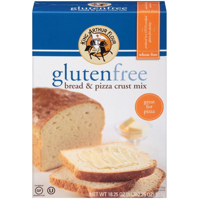 King Arthur Flour Gluten Free Bread & Pizza Crust Mix 18.25 Oz  (Pack of 6)