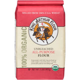 King Arthur Flour 100% Organic Unbleached All-Purpose Flour 2 lb. Bag (Pack of 12)
