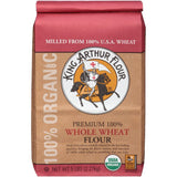 King Arthur Flour 100% Organic Premium 100% Whole Wheat Flour 5 lb. Bag (Pack of 6)