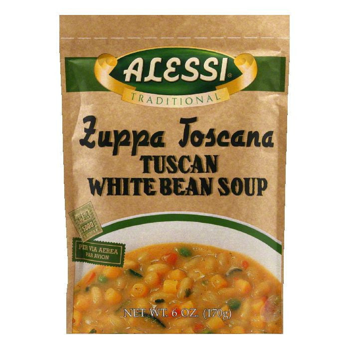 Alessi Soup Tuscan Bean, 6 OZ (Pack of 6)