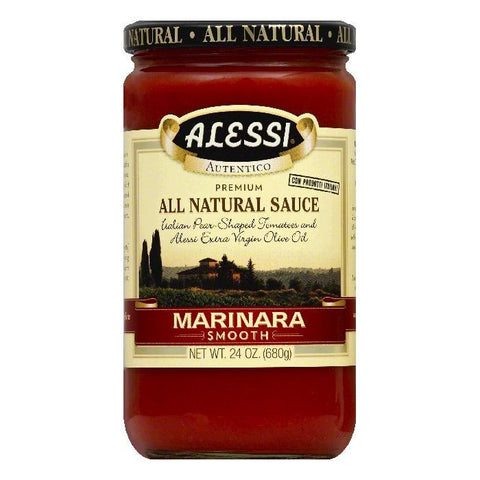 Alessi Sauce Smooth Marinara, 24 OZ (Pack of 6)