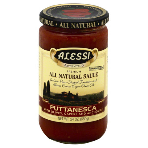 Alessi Puttanesca Pasta Sauce, 24 Oz (Pack of 6)