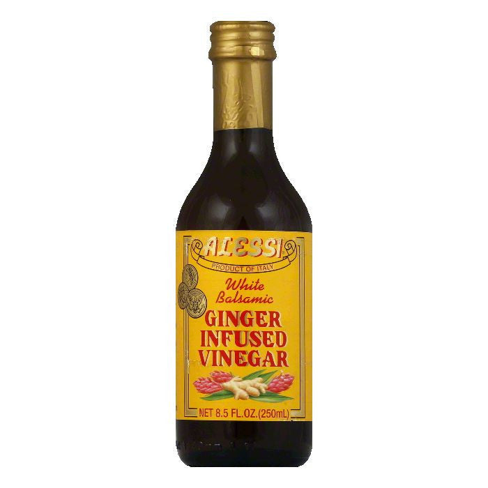 Alessi White Balsamic Ginger Infused Vinegar, 8.5 Oz (Pack of 6)
