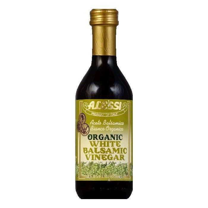 Alessi Balsamic Vinegar White Organic, 8.5 OZ (Pack of 6)