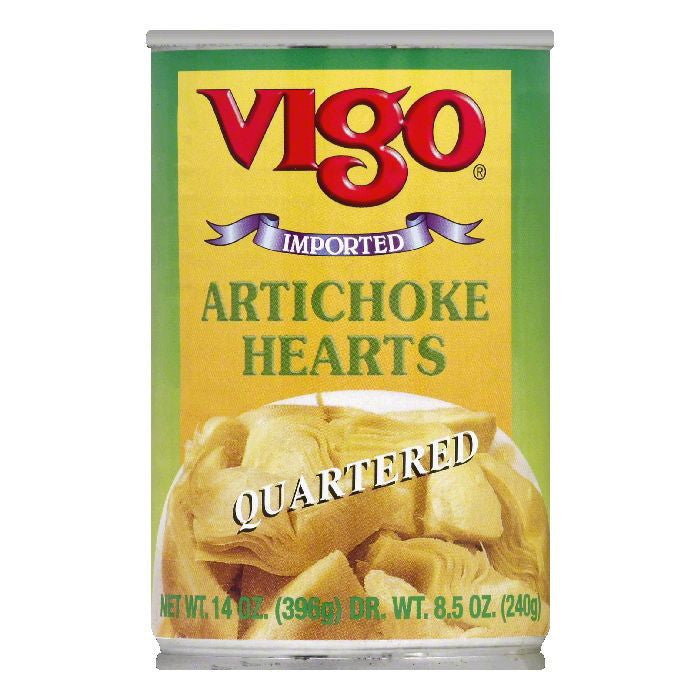 Vigo Quartered Artichokes, 14 OZ (Pack of 12)