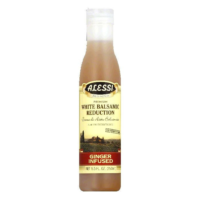 Alessi Premium Ginger Infused White Balsamic Reduction, 8.5 Oz (Pack of 6)