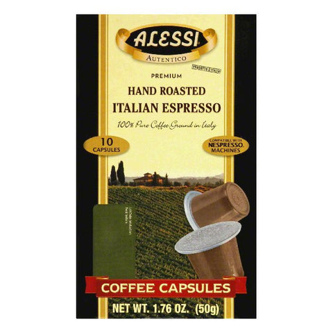 Alessi Italian Espresso Capsules Coffee, 10 PC (Pack of 12)