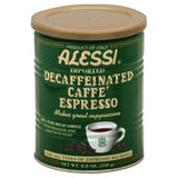 Alessi Decaffeinated Caffe Espresso 100% Pure Coffee, 8.8 Fo (Pack of 6)