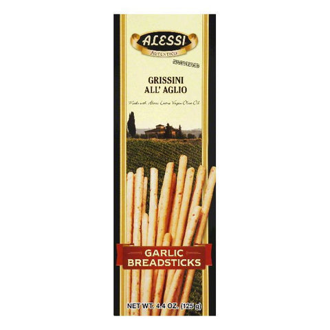 Alessi Breadsticks Garlic, 4.4 OZ (Pack of 12)