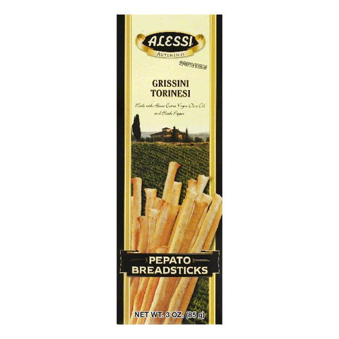 Alessi Pepato Breadsticks, 3 OZ (Pack of 12)